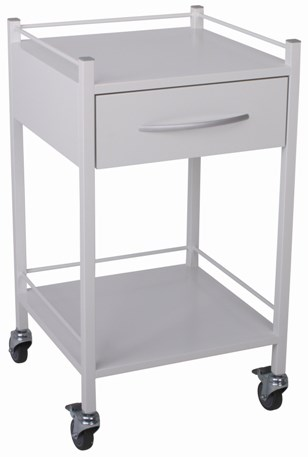 Milano Instrument/Dressing Trolley with 1 Drawer 500mmW x 500mmD x 900mmH