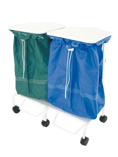 Porto Foot Operated Linen Trolley (double)