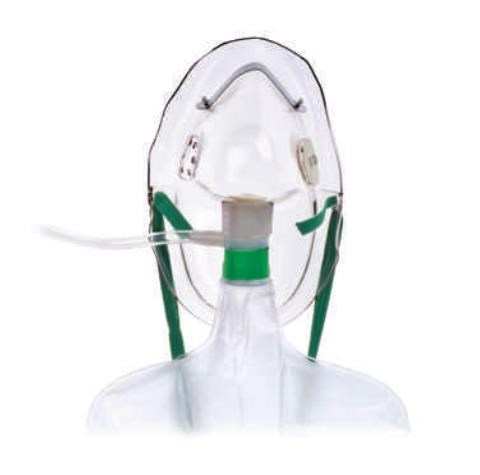 Hudson Nonrebreathing Mask with Safety Vent - Adult w/out tubing