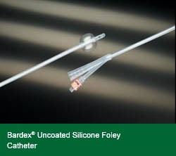 Bardex Uncoated Silicone 2 way Foley Catheter 22fg 5cc