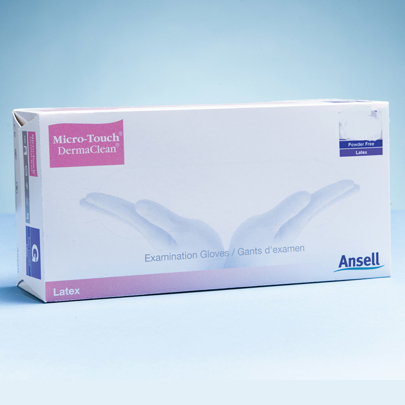 Ansell Micro-Touch DermaClean Powder Free Latex Glove Small