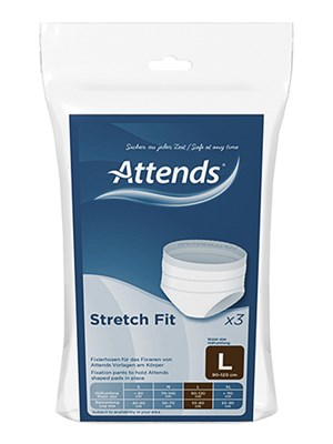 Attends Stretch Fit Pants Large - Pkt/3