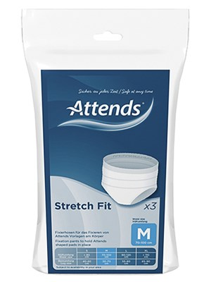 Attends Stretch Fit Pants Medium - Pkt/3