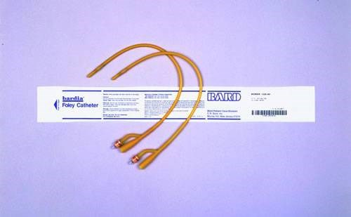Bardia Silicone Elastomer Latex 2 way Foley Catheter 16fg 10cc