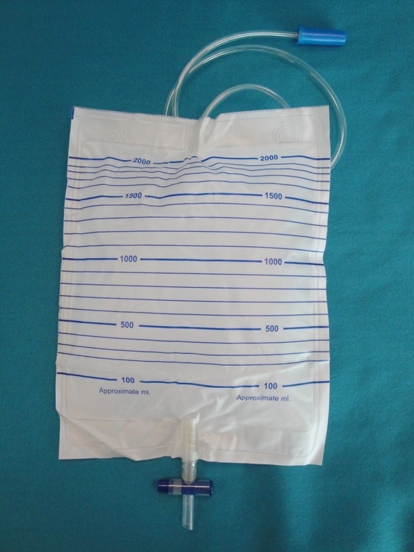 Urine Night Bag 2 Litre with T-Tap, Non-Return Valve & 90cm Tube