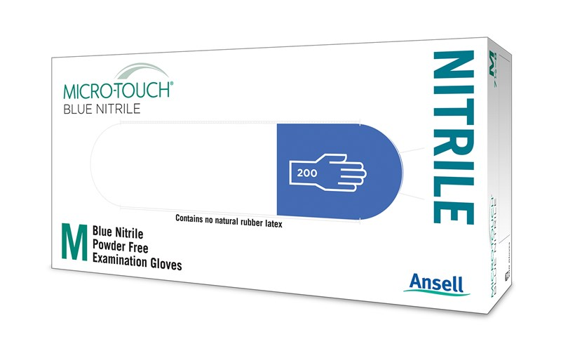 Ansell Micro-Touch Blue Nitrile Small