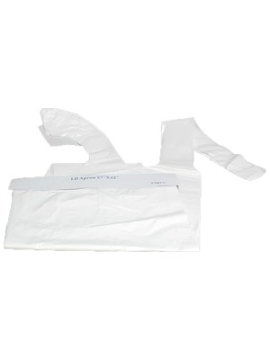 Disposable LD Apron White - Pk/100