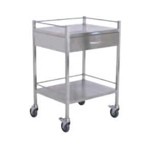 Nordic Instrument/Dressing Trolley 500 L x 500 W x 960mm H - 1 Drawer