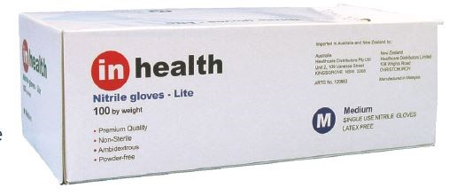 Inhealth Nitrile Lite Exam Xlg